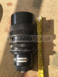 Unusual huge video lens