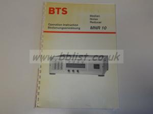 BTS MNR10 Median noise reducer