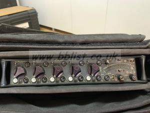 3 off USED SOUND DEVICES 552 SOUND MIXERS,CASES AND CABLES S