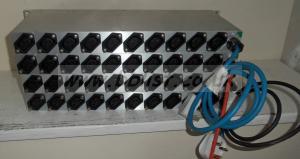 4x DB Broadcast 12channel Power Distribution Racks