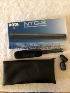 Rode NTG 2 condenser microphone