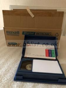 7 x Maxell B-D40 Digital Betacam tapes