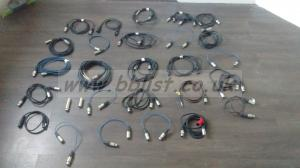 26x XLR cables reels and converters