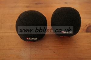 Two RYCOTE Baseball windscreen 19/20mm