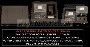 MOTION CONTROL PAN-TILT-ZOOM-FOCUS PELICAN ROAD CASED KIT