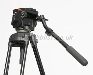 Manfrotto 503 Video Tripod with pan and tilt head.