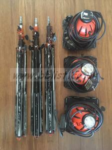 Tungsten Lighting Kit - 3x800w Redhead 1x1000w Softbox