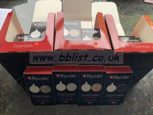 25 Boxes of RYCOTE essentials OVERCOVERS & adv sticky discs