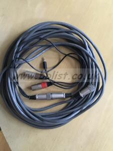 10 wayAudio cable with monitor return tails.