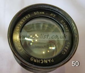 Cooke Panchro Lenses, unmounted, 'War Finish' 50-8