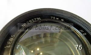 Cooke Panchro Lenses, unmounted, 'War Finish' 75-1