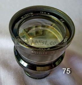 Cooke Panchro Lenses, unmounted, 'War Finish' 75-2