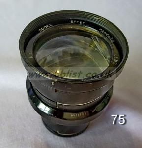 Cooke Panchro Lenses, unmounted, 'War Finish' 75-4