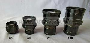 Cooke Panchro Lenses, unmounted, 'War Finish' set 1