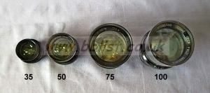 Cooke Panchro Lenses, unmounted, 'War Finish' set 2