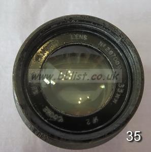 Cooke Panchro Lenses, unmounted, 'War Finish' 35-5