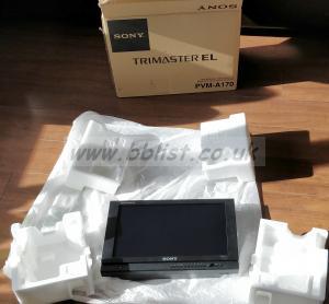 Sony PVM-A170 OLED Broadcast Monitor in Lemsford Flightcase