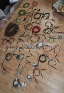 Lot of 45 XRL Cables Reels,Converters and Line jack cables