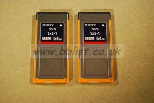 2 x Sony 64 GB SxS Card 3.5Gbps