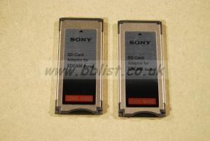 2 x Sony MEAD SD02 SxS adaptor for SD card