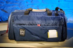Portabrace professional camcorder bag with shoulder strap.