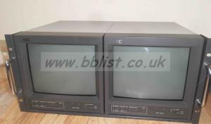 2x JVC TM-A101 10inch CRT Monitors in Rack Kit
