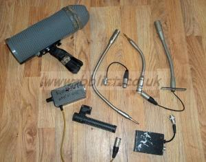 Lot of audio Microhones and parts