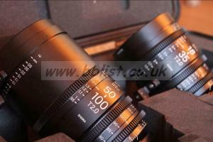 Sigma Cine high speed zoom set - 18-35 and 50-100