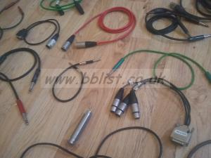 Large lot of XLR ex BBC audio cables and converters