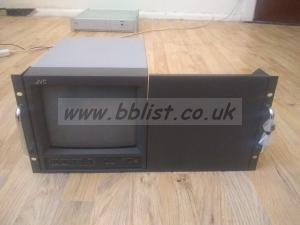 JVC TM-A101G 10 inch colour monitor in rack