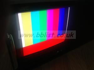 JVC TM-A101G 10 inch colour monitor in rack