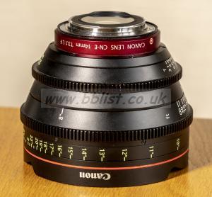 Canon CN-E 14mm. T3.1 L EF Mount Digital Cinema Prime Lens