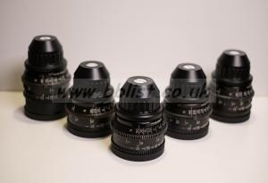 Arri Zeiss Super Speed MK3 T1.3 PL Mount - Set of 5