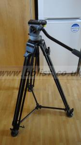 Miller DS5 head and 2 stage tripod mid level spreader & bag