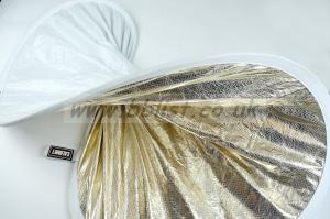 "CALUMET 42"" White/Silver and Gold Reflector"