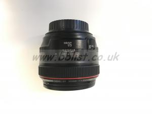 Canon 50mm L Series Lens / f1.2 / USM Overhead View