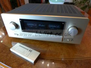 Accuphase E-530, high-end stereo amplifier, remote control.