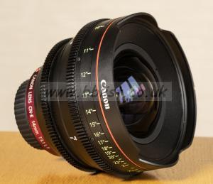 Canon 4K Cinema CN-E 14mm. T3.1 LF lens