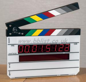 Denecke TS-TCB timecode Intellislate clapperboard. As new.