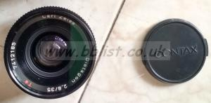 Contax ZEISS Distagon T 35mm f/2.0-8.0 MF Lens (used)