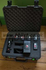 6 Red Bricks and charger (plus pelican case) for sale