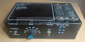 Canford Audio Microphone Preamplifer MK2 Unit