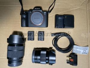 Sony A7S Mk 2 with 2 lenses