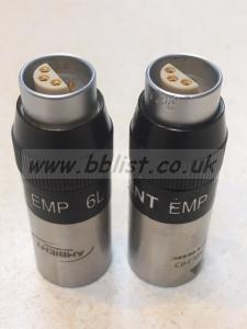 2 x Ambient EMP 6L 6pin to XLR Converters