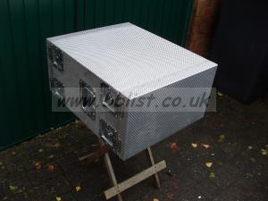 """Case Design 19"""" 6U welded aluminium Transit case (X)"""