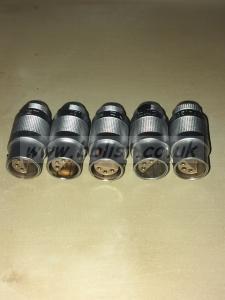 5x 6 Pin Lemo Connectors