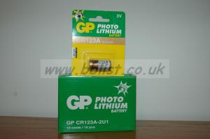 GP CR123A  Lithium Photo 3V Batteries