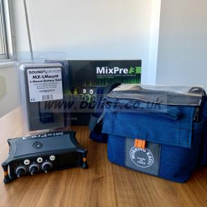 SoundDevices MixPre-3 + MX LMount battery adapter + Working