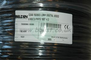Belden 70080NH Coax Mini RG59/U LSZH HDTV Precision Video