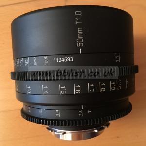 Ultra rare ANGÉNIEUX 50mm T1.0 lens,feet rehoused GL Optix